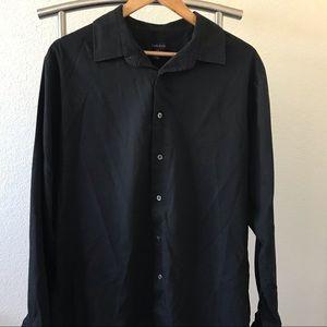Van Heusen Black Button Up Shirt
